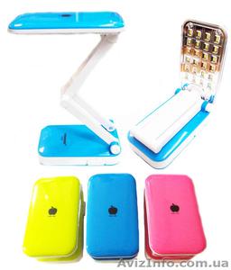 Настольная лампа трансформер с аккумулятором светодиодная 24 LED Tiross TS-55, а - Изображение #1, Объявление #1193337