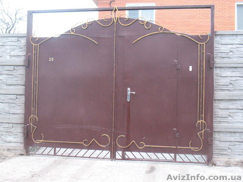 Ворота в николаевн ворота калитки с цветами