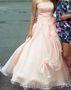 Срочно продам пышное платье персикового цвета
