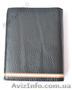 Стильный чёрный новый мужской кошелёк Cattail на подарок